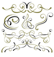 set of elements for design borders vector image vector image