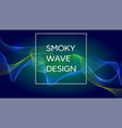 smoky waves background structural curved pattern vector image