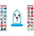 Sperm In Condom Icon vector image