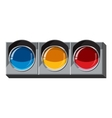 Sport traffic light icon isometric 3d style vector image vector image