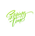 spring time hand drawn lettering isolated on vector image vector image