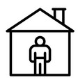 stay at home ine style icon vector image