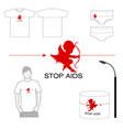 stop aids project vector image vector image