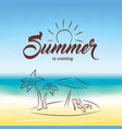summer background hello summer vector image vector image