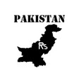 symbol of isle of pakistan and map vector image vector image