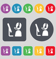 Telemarketing icon sign A set of 12 colored vector image