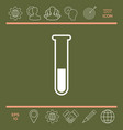 test-tube icon vector image