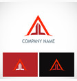 triangle line building company logo vector image vector image