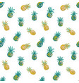 tropical beach party seamless pineapple pattern vector image vector image