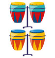 two set of colorful drum vector image vector image