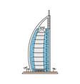 united arab emirates landmark hotel icon isolated vector image vector image