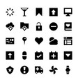 user interface set of icons vector image