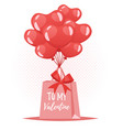 valentines day romantic gift vector image vector image