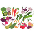 Vegetables set healthy nutrition food carrot