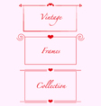 vintage frames hearts weddind invitations cards vector image vector image