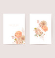 wedding invitation dried pastel flowers floral vector image vector image