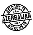 welcome to azerbaijan black stamp vector image vector image