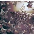 Christmas stars background vector image
