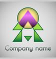 geometrical logo of the company vector image