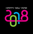 2018 greeting for new year celebration vector image vector image