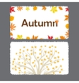 Autumn flyer template with leaves vector image