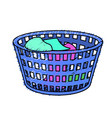basket object with dirty clothes inside vector image vector image