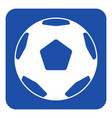 blue white sign - classical football soccer ball vector image vector image