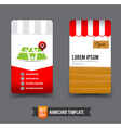 Business Card template set 004 vector image vector image