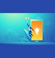 business creative startup idea mobile app concept vector image vector image