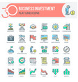 business investment icons vector image