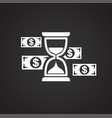 business money icon on black background for vector image