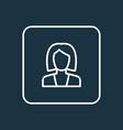 businesswoman outline symbol premium quality vector image vector image