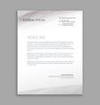 clean minimal letterhead design vector image vector image