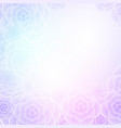 colorful purple rose flower background for wedding vector image