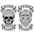 day of the dead dia de los muertos set of the vector image