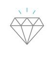 diamond simple icon eps10 vector image vector image