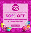 easter egg sale banner background template 16 vector image vector image