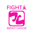fight breast cancer vector image vector image