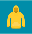 flat icon hoodie element vector image vector image