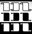 folded blank banners vertical peeling banner vector image vector image