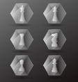 Glass Chess Piece Icons