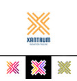graphic creative line alphabet logotype symbol vector image