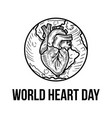 happy medical world heart day concept background vector image vector image