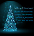 holiday christmas tree background vector image