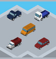 isometric automobile set of freight lorry vector image vector image