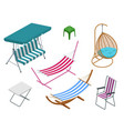 isometric garden swings isolated on white vector image vector image
