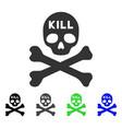 kill death flat icon vector image vector image