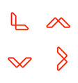 letter l outline logo template icon elements vector image
