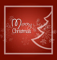 merry christmas postcard shiny garland with fir vector image vector image