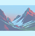 mountains in afternoon vector image vector image